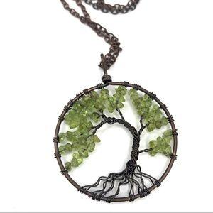 Handmade Tree Of Life Pendant Necklace Green G213